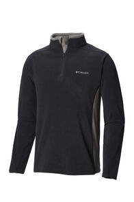 Columbia Men's Klamath II Half Zip Fleece, Shark/Boulder, hi-res