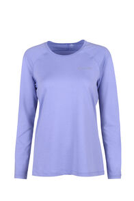 Macpac Eyre Long Sleeve Tee - Women's, Sweet Lavender, hi-res