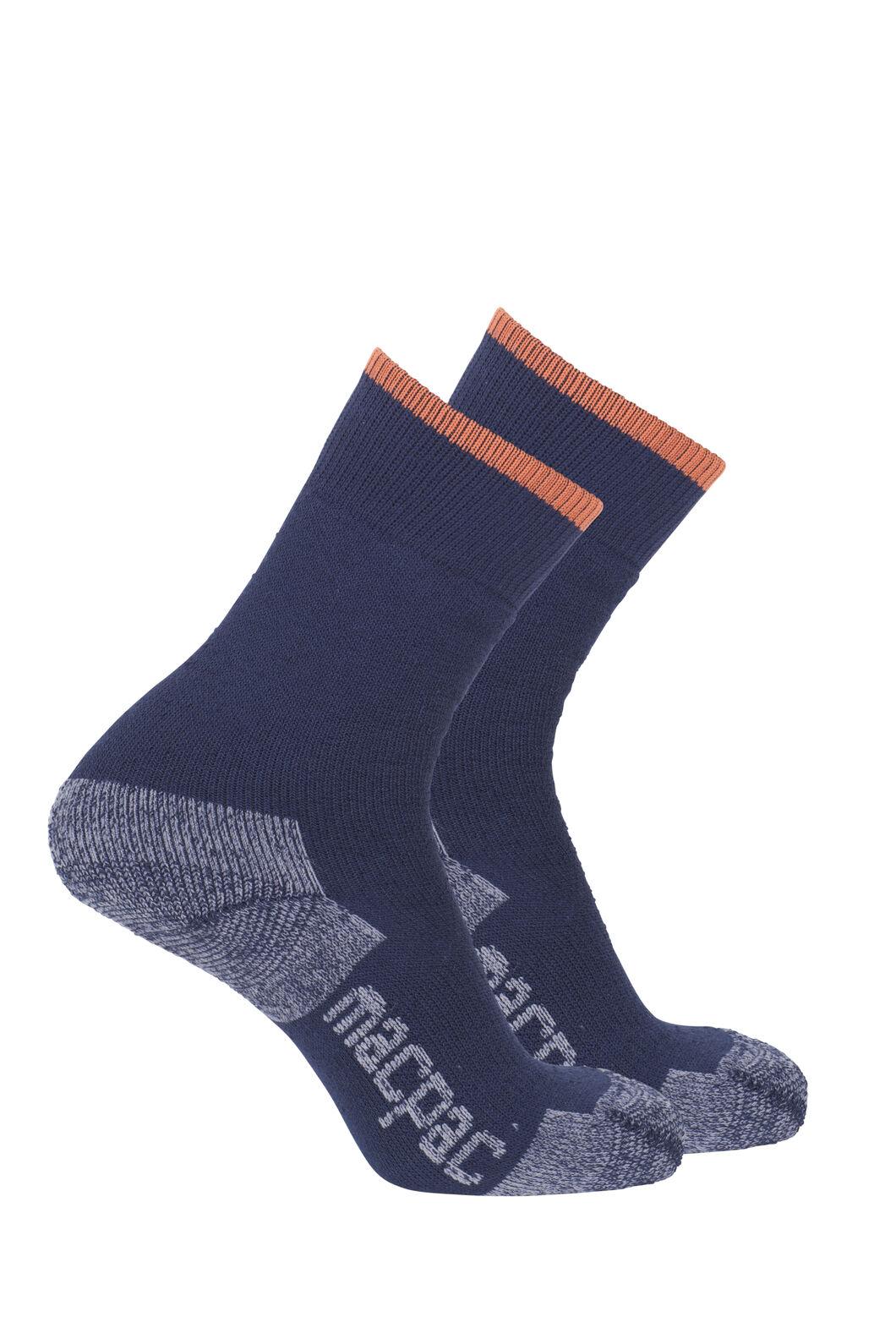 Macpac Thermal Sock — 2 Pack, Black Iris/Black Iris, hi-res