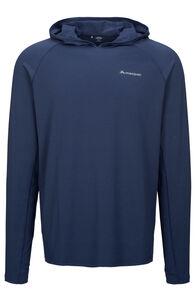 Macpac Eyre Long Sleeve Hooded Top — Men's, Blueprint, hi-res