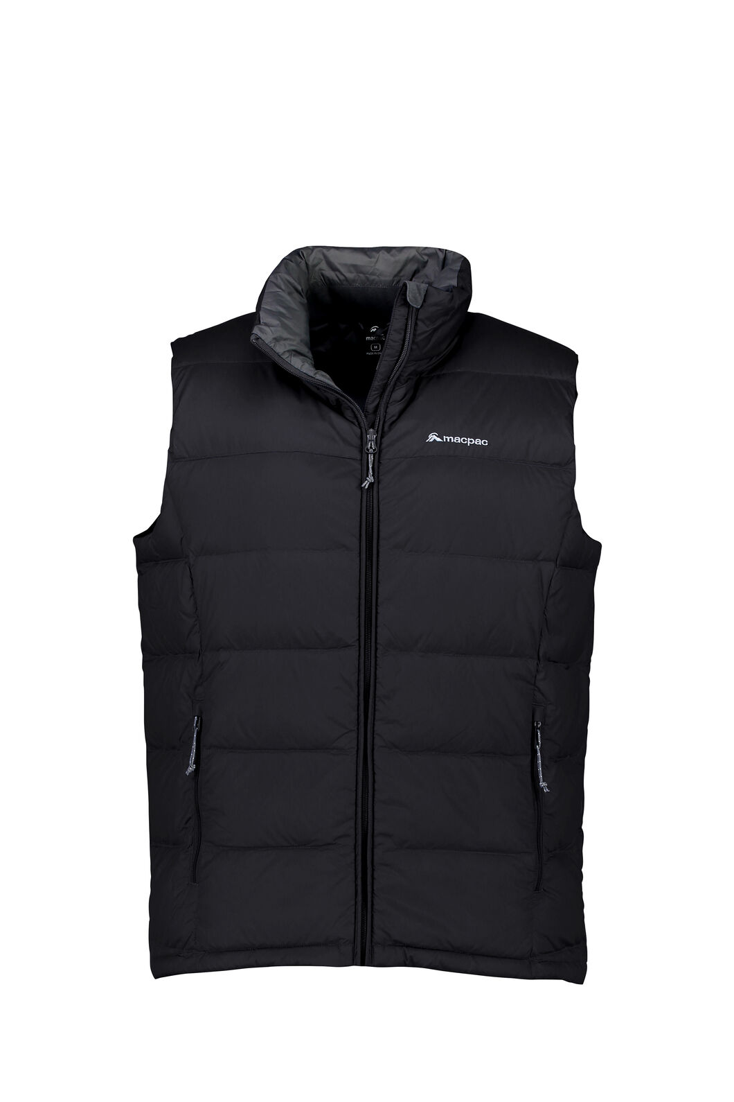 Macpac Halo Down Vest — Men's, Black, hi-res