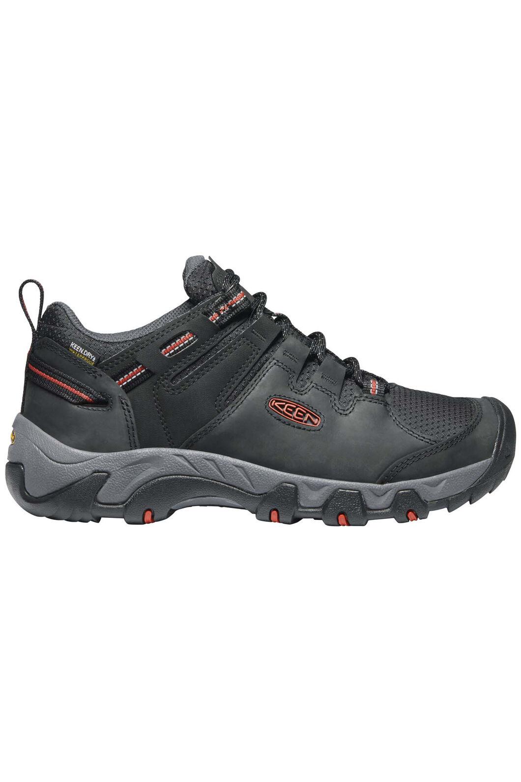 KEEN Men's Steens WP Low Hiking Shoes, Black/Bossa Nova, hi-res