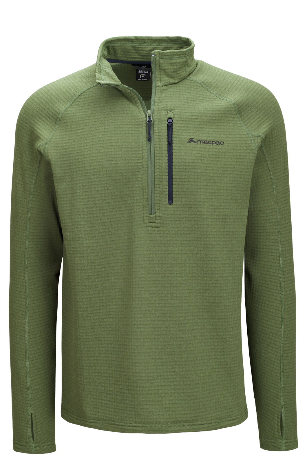 Macpac Ion Polartec® Fleece Half Zip Pullover — Men's, Bronze Green, hi-res
