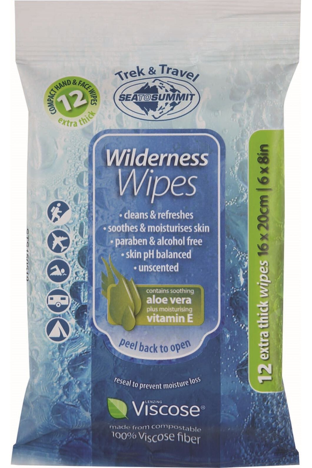 Sea To Summit Wilderness Wipes Compact, None, hi-res