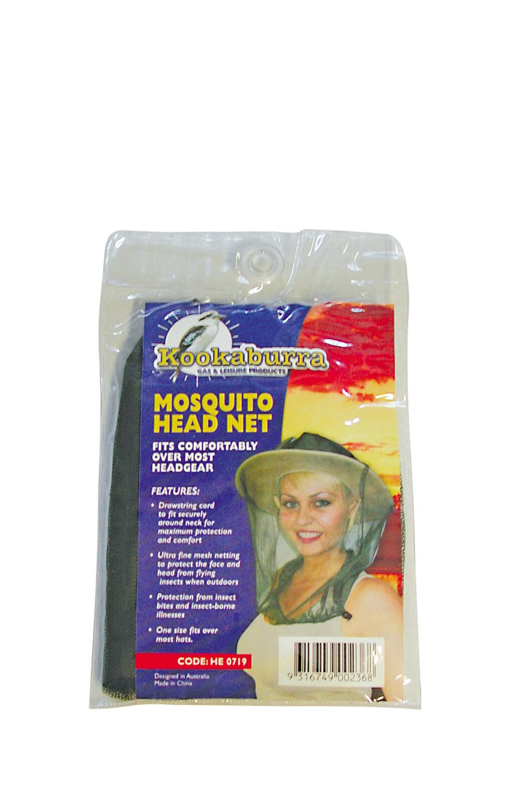 Kookaburra Mosquito Head Net Drawstring 60cm, None, hi-res