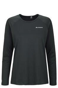 Macpac Eyre Long Sleeve Tee — Women's, True Black, hi-res