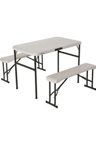 Lifetime Folding Picnic Table and Bench Set, None, hi-res