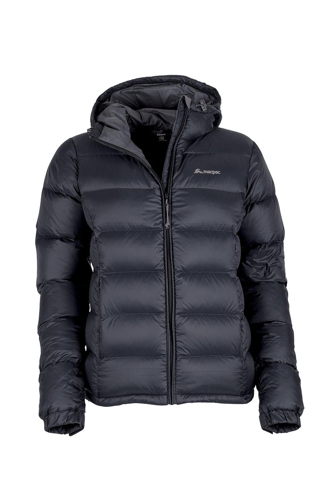 Macpac Halo Hooded Down Jacket — Women's, Black, hi-res
