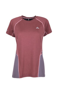 Macpac Casswell Short Sleeve Crew — Women's, Wild Ginger/Shark, hi-res