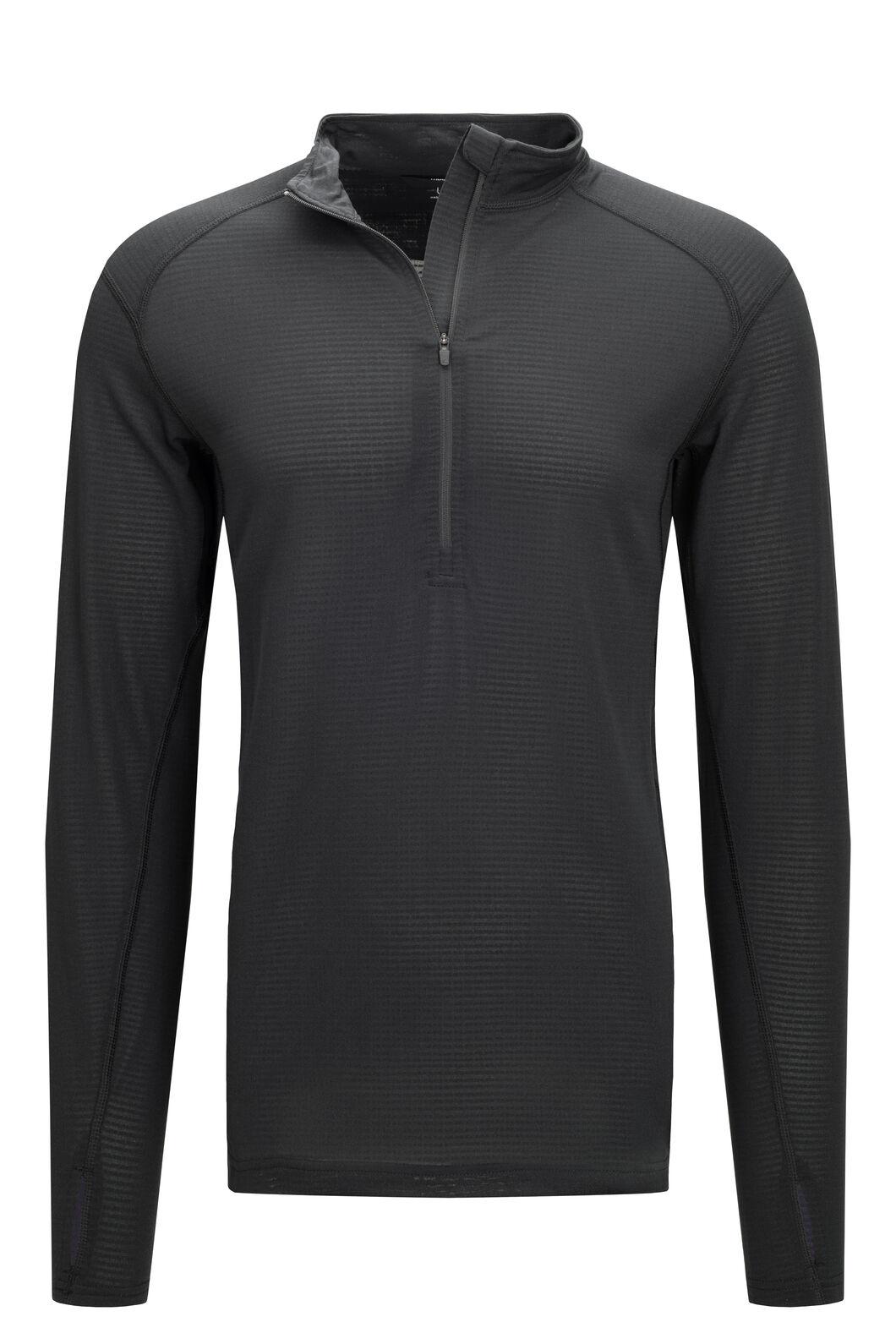 Macpac Men's Prothermal Polartec® Long Sleeve Top, Black, hi-res