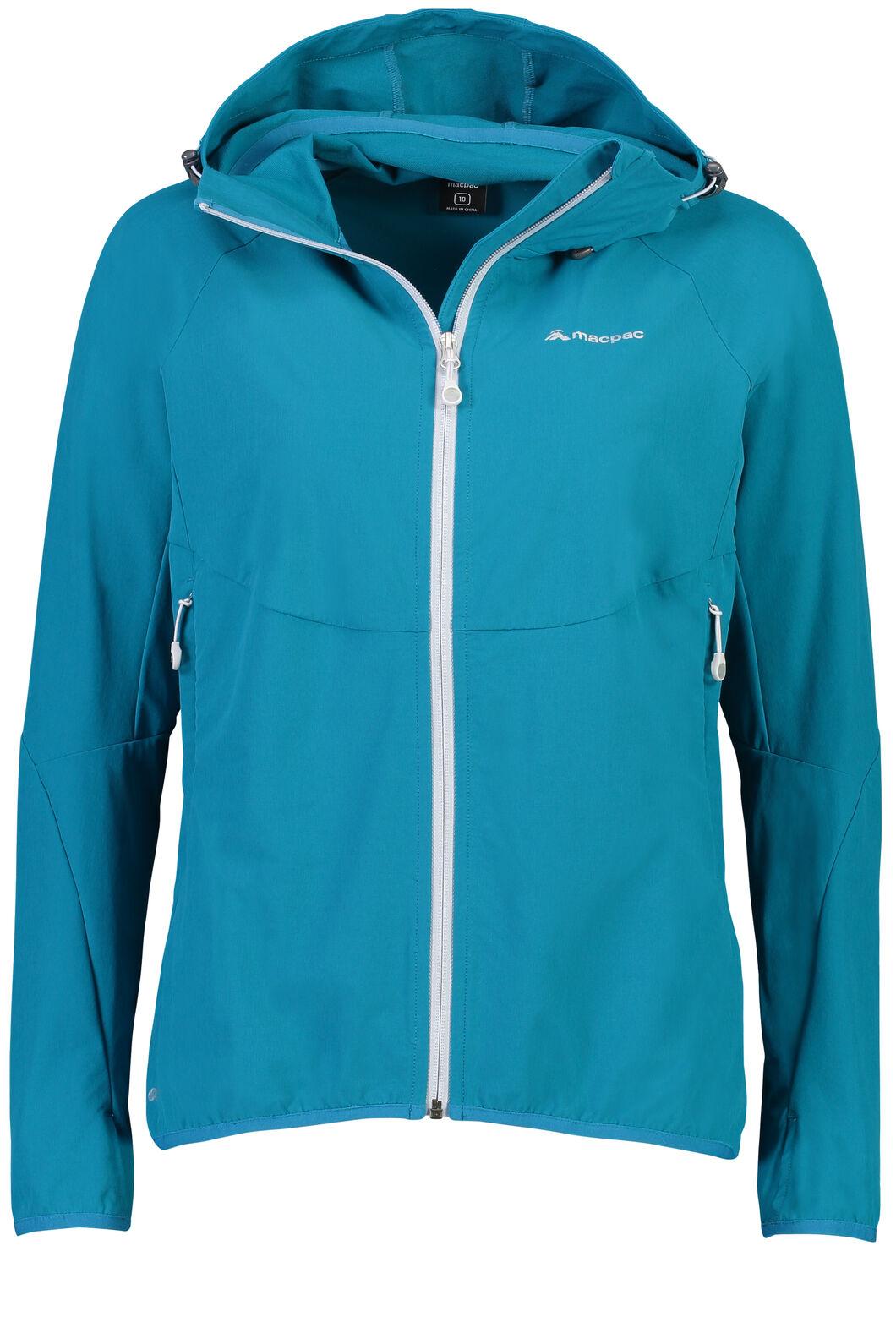 Macpac Mannering Pertex® Hooded Jacket — Women's, Ocean Depths, hi-res