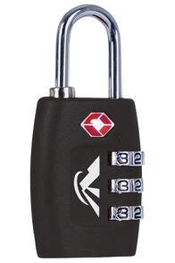 Macpac TSA Combo Padlock, Black, hi-res