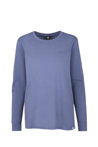 Macpac Flora Organic Long Sleeve Tee - Women's, China Blue, hi-res