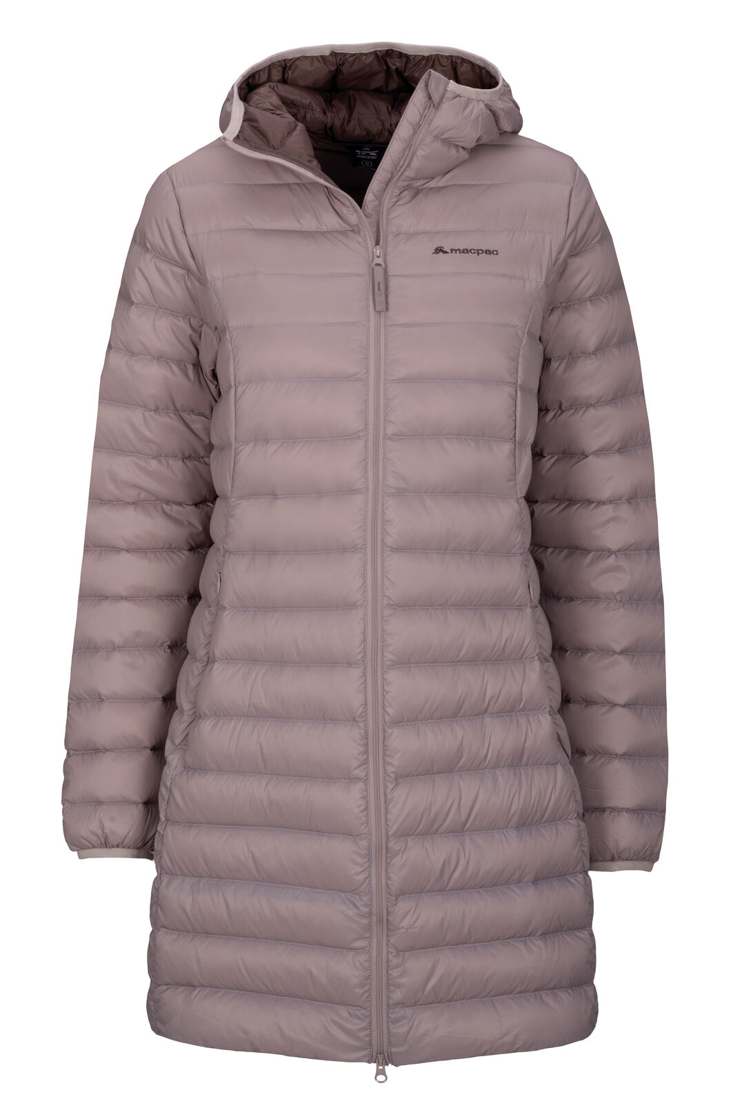 Macpac Uber Light Hooded Down Coat — Women's, Sphinx/Peppercorn, hi-res