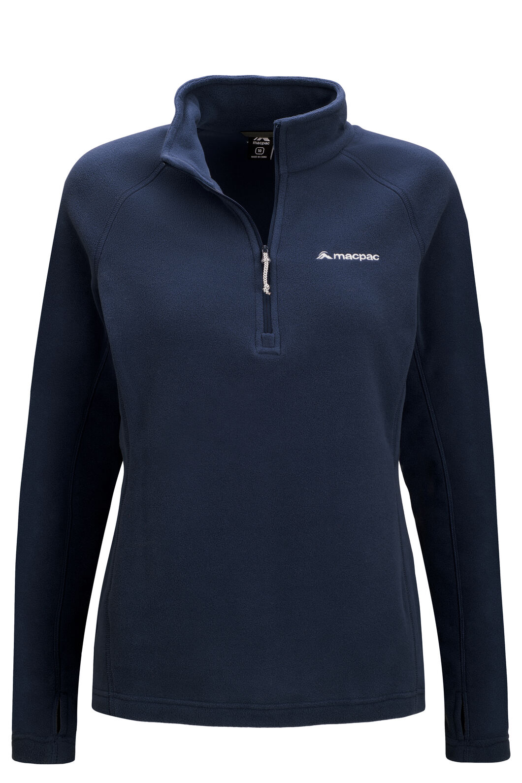 Macpac Women's Tui Polartec® Micro Fleece® Pullover, Black Iris, hi-res