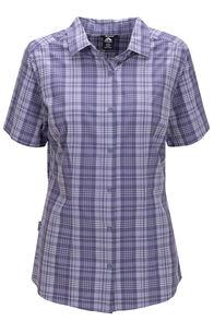 Macpac Women's Eclipse Short Sleeve Shirt, Heron, hi-res
