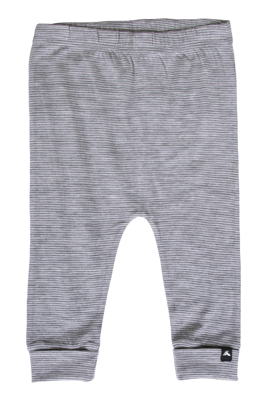 Macpac Baby 150 Merino Long Johns, Light Grey Stripe, hi-res