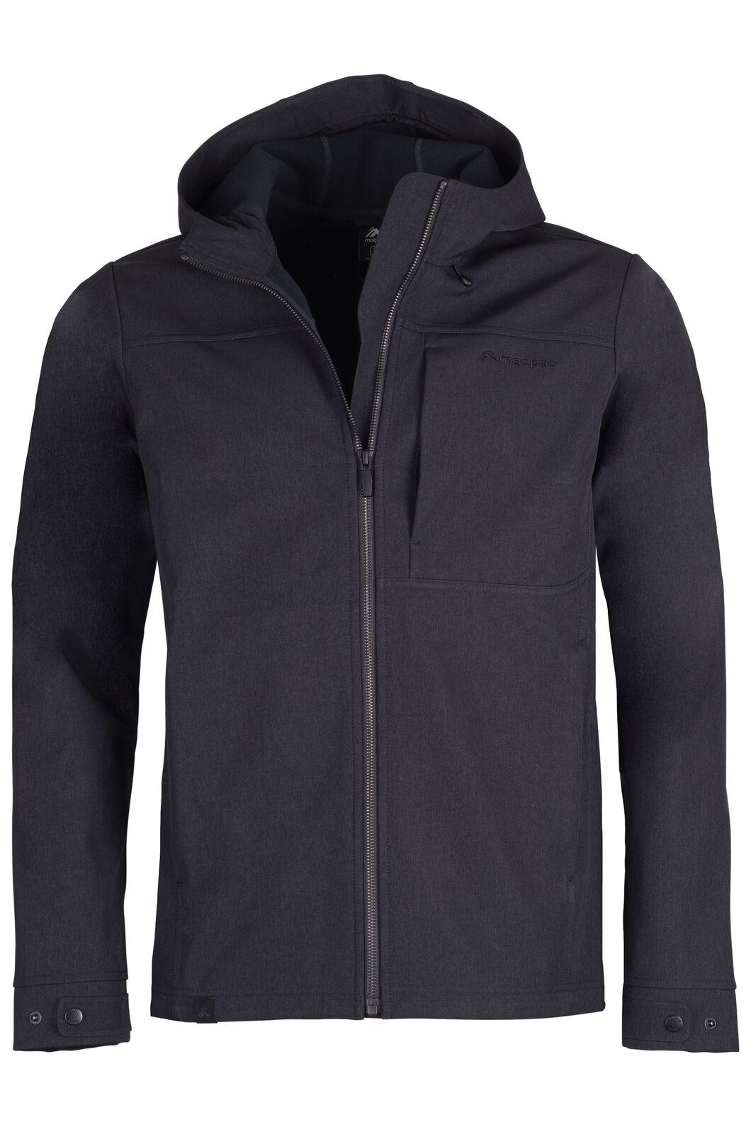 Macpac Chord Hooded Softshell Jacket - Men's, Black, hi-res