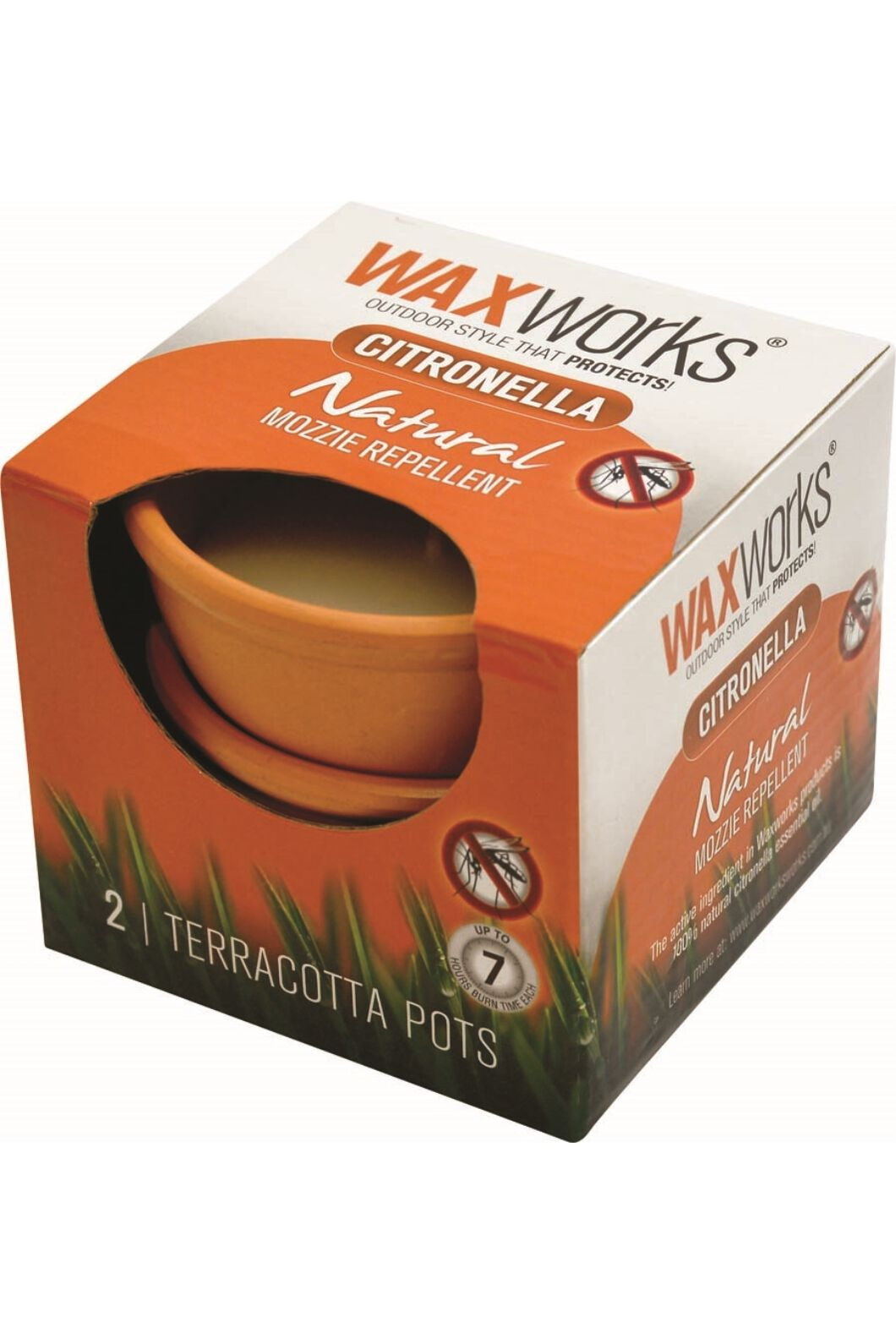 Waxworks 2 Pack Terracotta Citronella Candle, None, hi-res