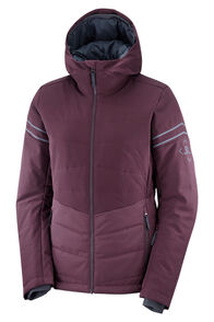 Salomon Edge Women's Insulated Ski Jacket, Winetasting/Ebony, hi-res