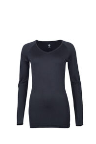 Macpac 150 Merino V-Neck Top - Women's, Black, hi-res