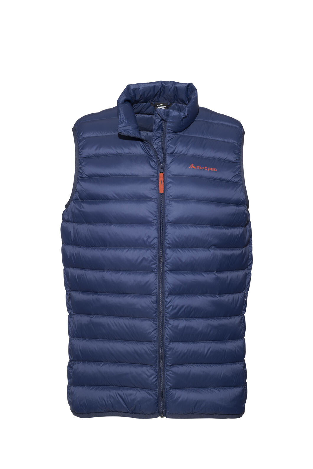 Macpac Uber Light Down Vest - Men's, Black Iris/Rooibos Tea, hi-res