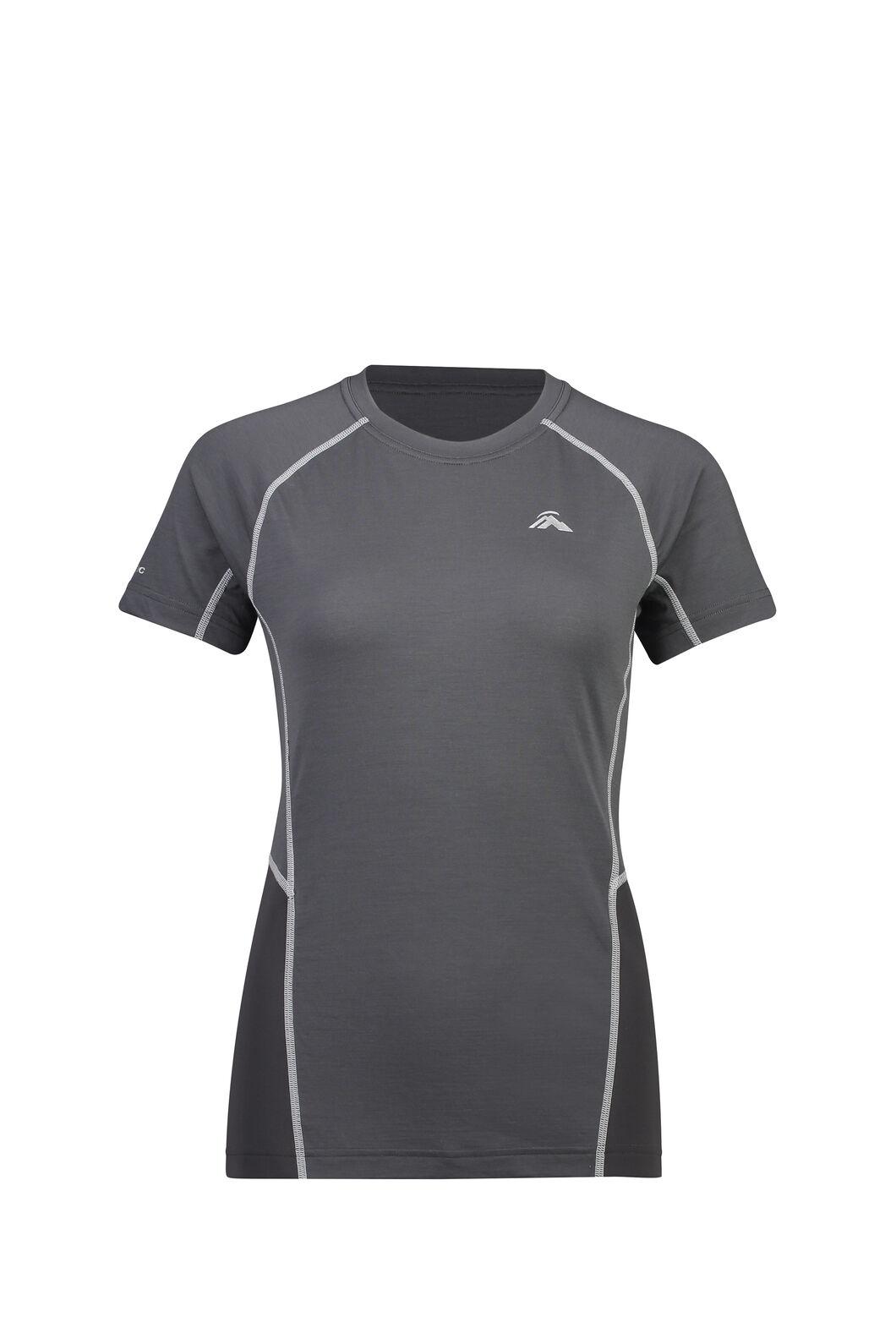 Macpac Casswell Short Sleeve Crew — Women's, Asphalt, hi-res