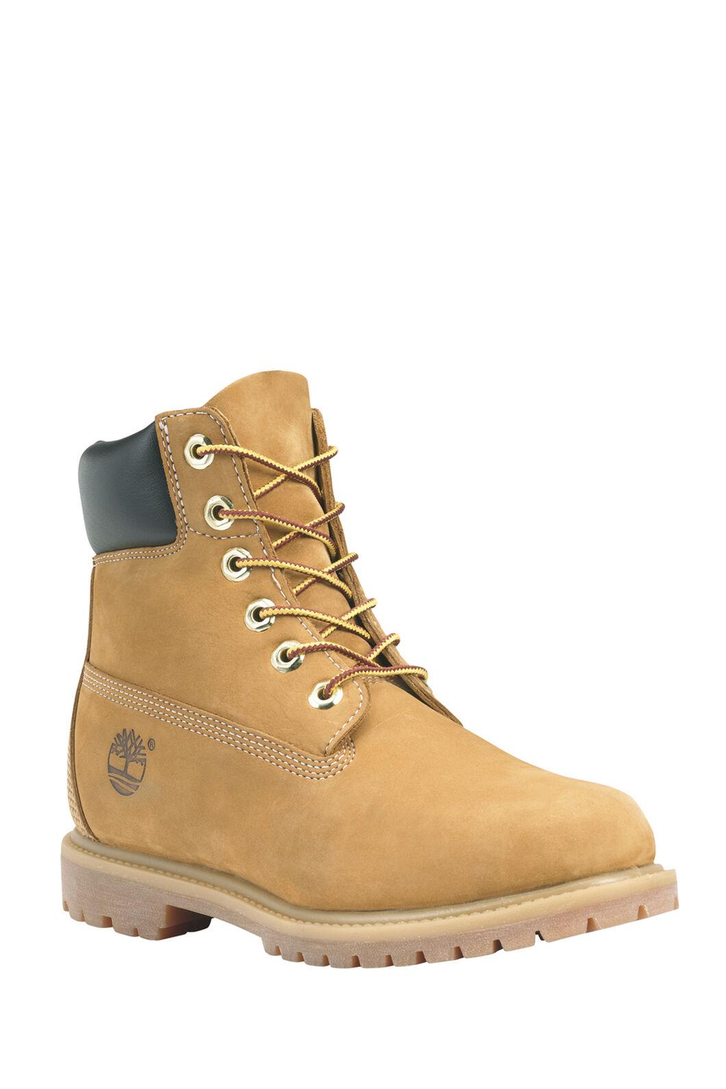 Timberland 6-Inch Premium WP Boots — Women's, WHEAT WATERBUCK, hi-res