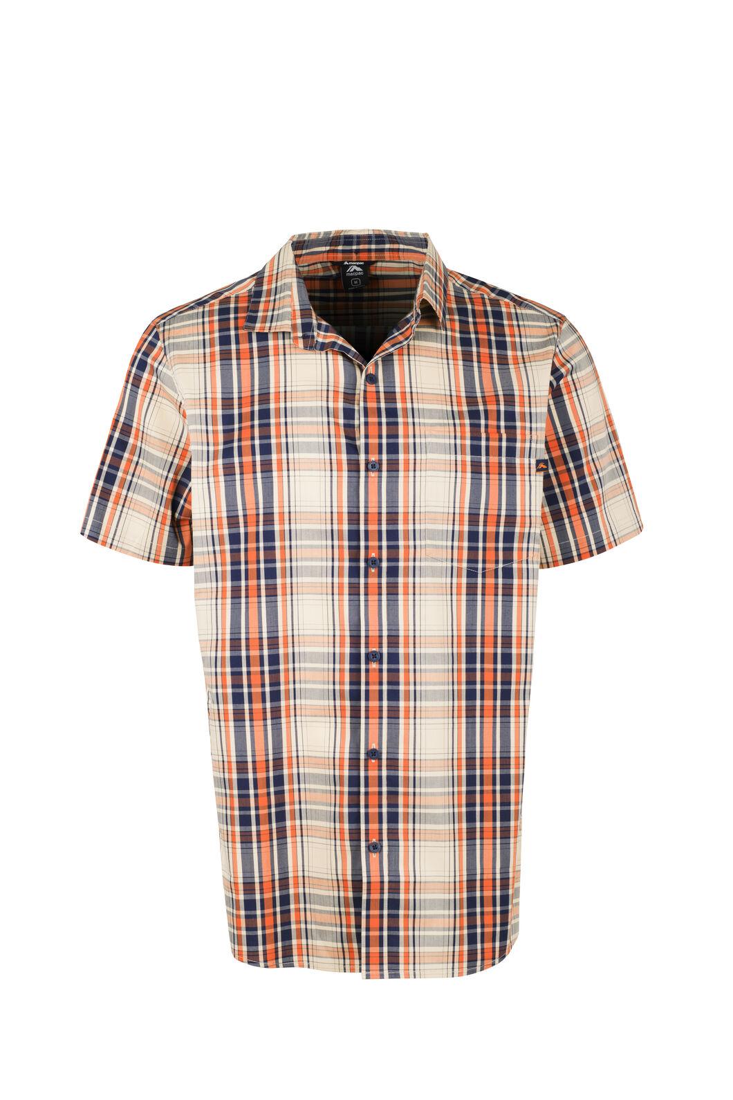 Macpac Crossroad Short Sleeve Shirt - Men's, Burnt Orange, hi-res