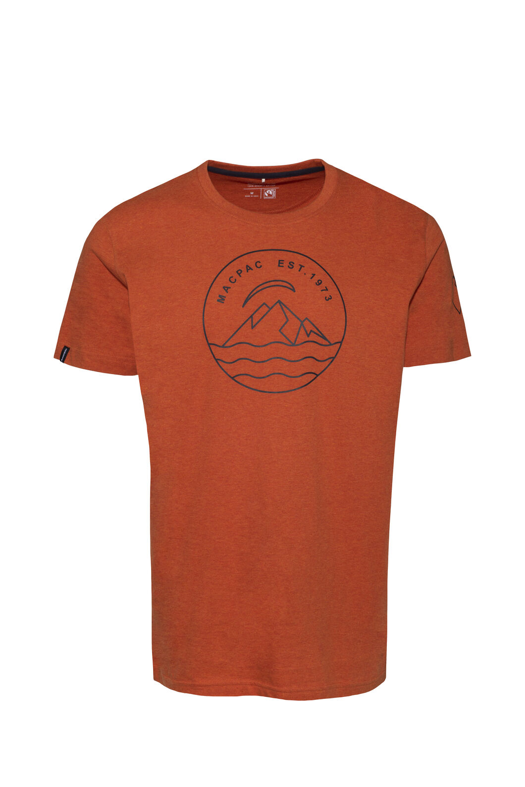 Macpac EST 1973 Fairtrade Organic Cotton Tee — Men's, Burnt Orange, hi-res