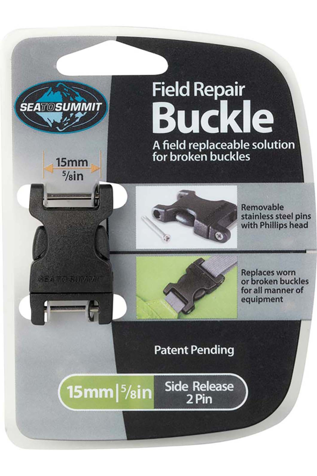 Sea to Summit Field Repair Buckle 15mm Side Release 2 Pin, None, hi-res