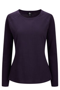 Macpac Ella Long Sleeve Merino Tee — Women's, Nightshade, hi-res