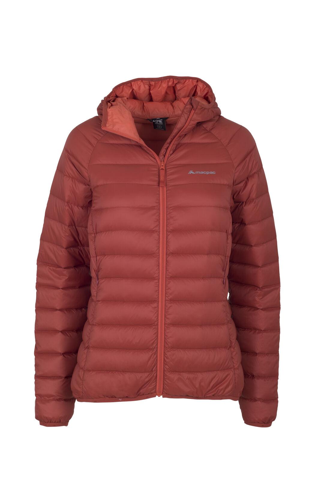 Macpac Uber Light Hooded Jacket - Women's, Red Ochre, hi-res