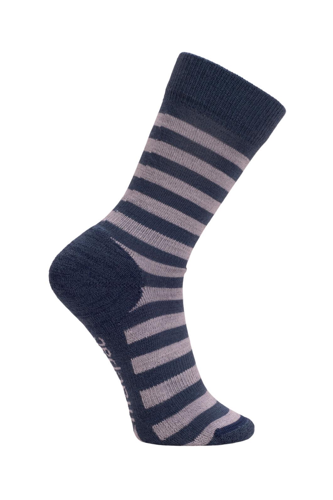Macpac Footprint Socks Kids', Ensign/High Rise Stripe, hi-res