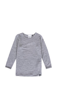 Macpac 150 Merino Long Sleeve Top — Baby, Light Grey Stripe, hi-res