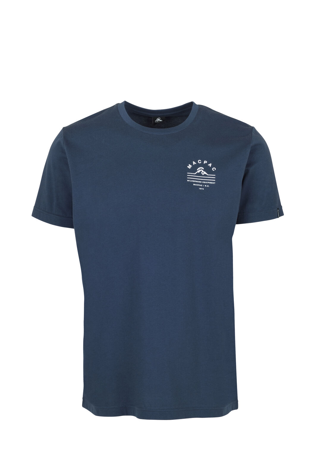 Macpac Alps Organic Tee — Men's, Mood Indigo, hi-res