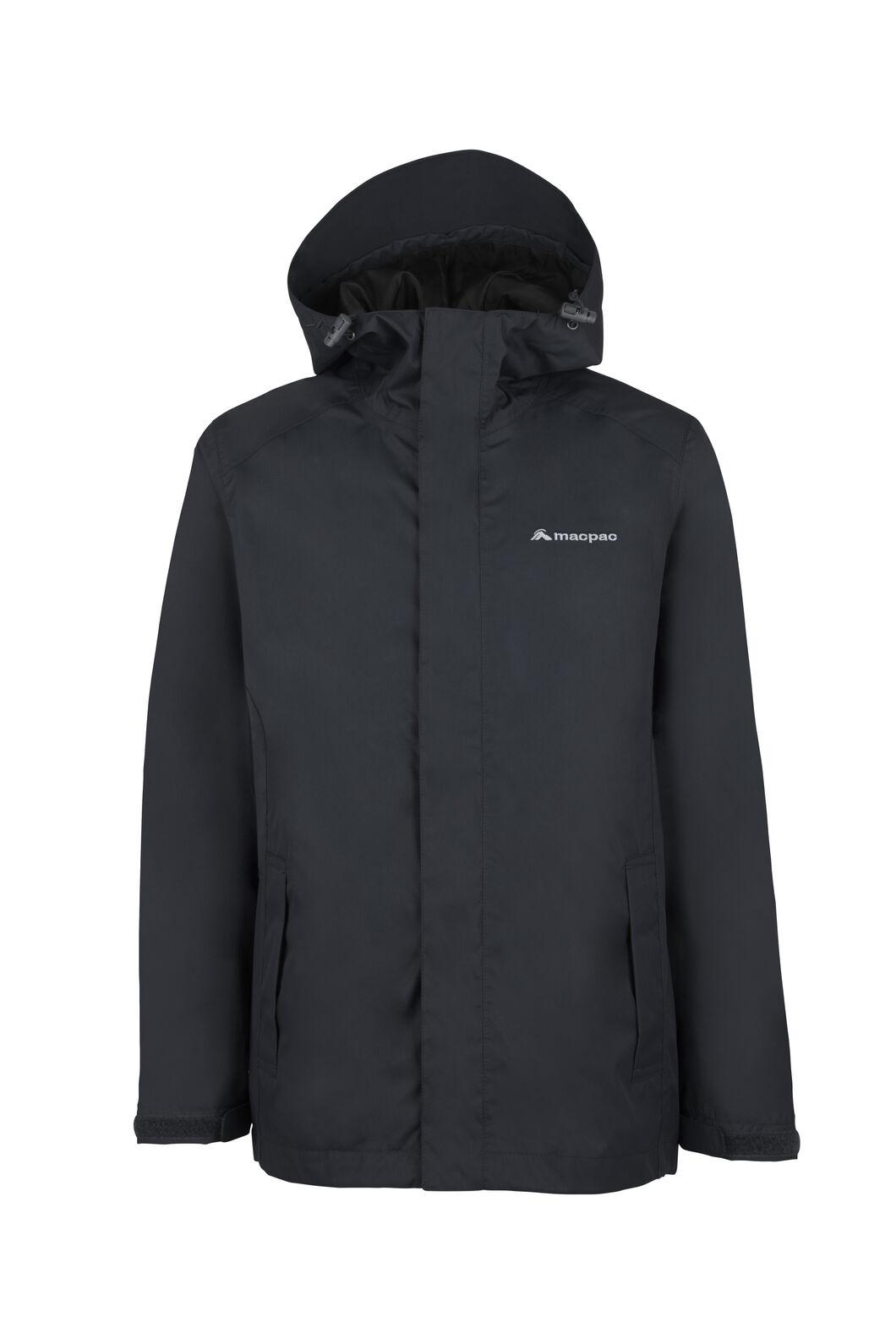 Macpac Jetstream Rain Jacket — Kids', Black, hi-res