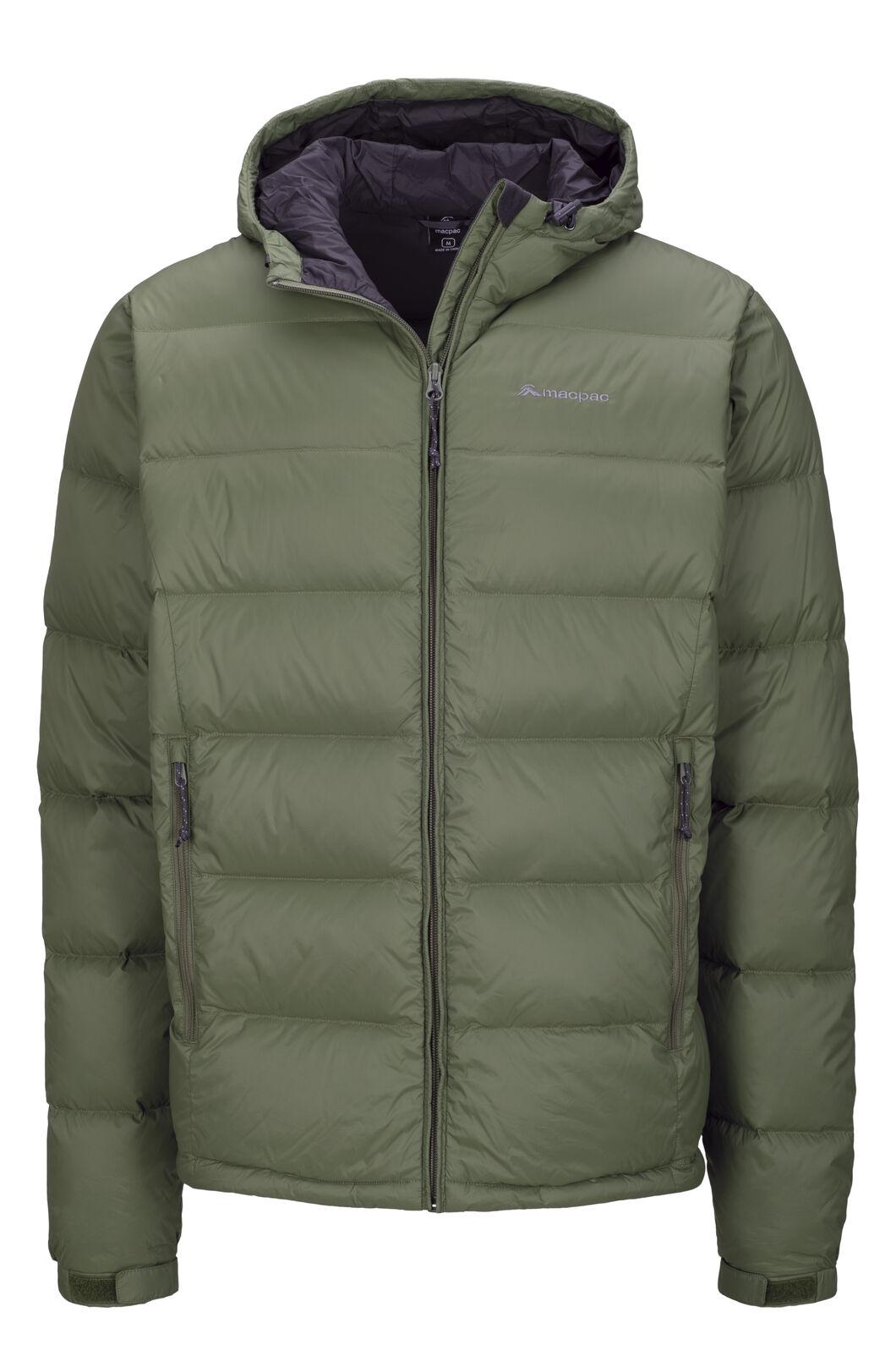 Men's Halo Hooded Down Jacket, Deep Lichen Green, hi-res