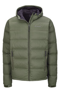 Men's Halo Hooded Down Jacket, Deep Lichen Green, hi-res