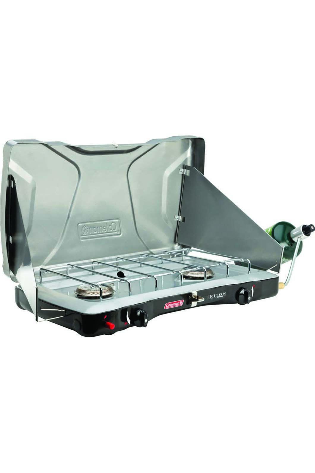 Coleman 2 Burner Triton Instastart Gas Portable Stove, None, hi-res