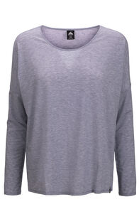Macpac Eva Long Sleeve Tee — Women's, Blue Granite Marle, hi-res
