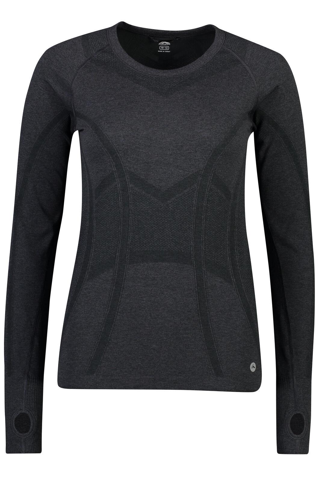 Macpac Limitless Long Sleeve Tee - Women's, Black, hi-res