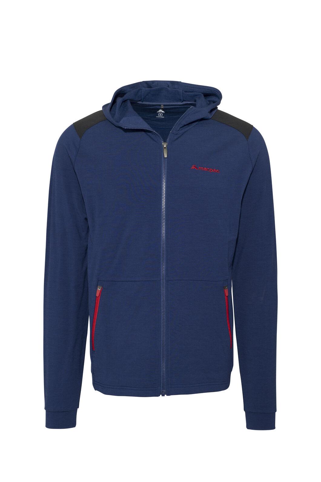 Macpac Strata 280 Merino Hooded Jacket — Men's, Blueprint, hi-res