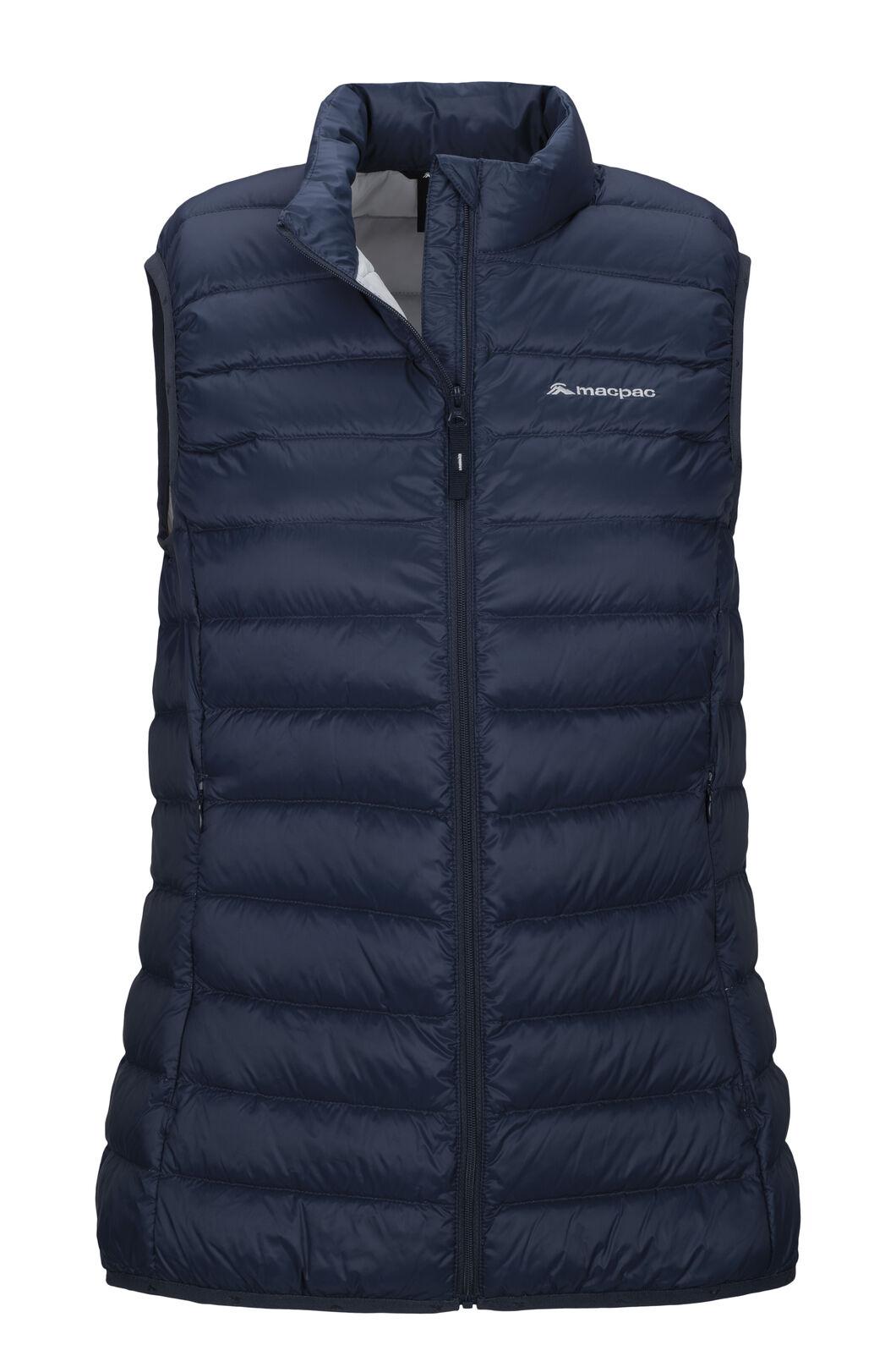 Macpac Women's Uber Light Down Vest, Black Iris/Glacier Grey, hi-res