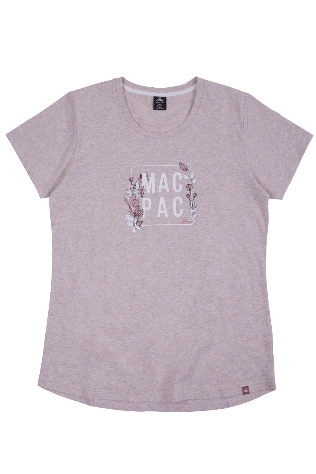 Macpac Cubed Organic Cotton Tee - Women's, Misty Rose Melange, hi-res