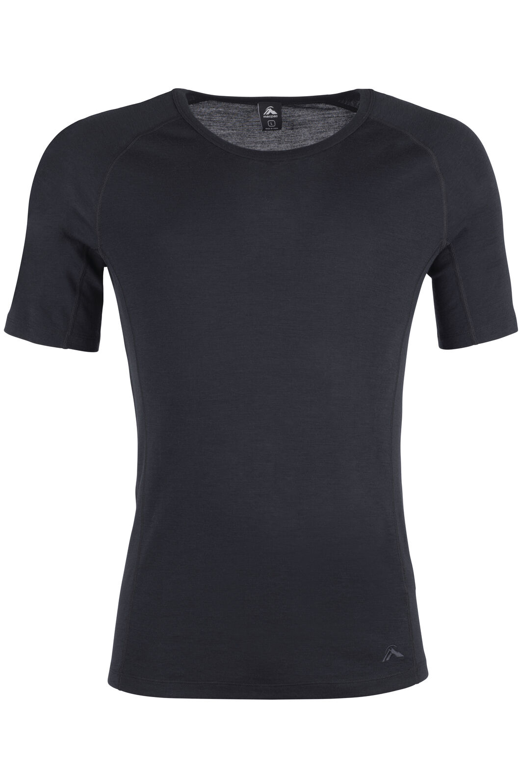220 Merino Short Sleeve Top - Men's, Black, hi-res