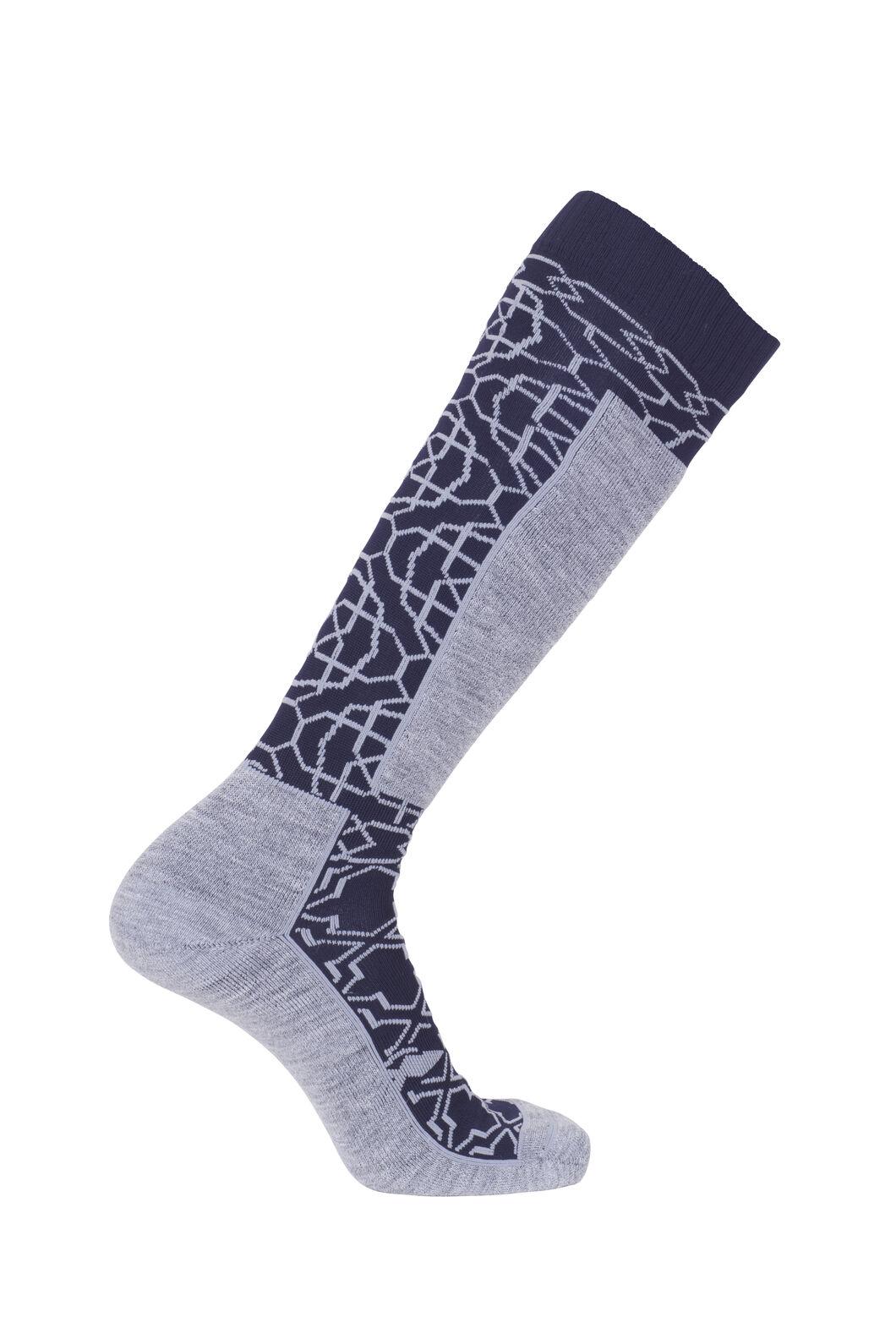 Macpac Tech Ski Socks, Medieval/White, hi-res