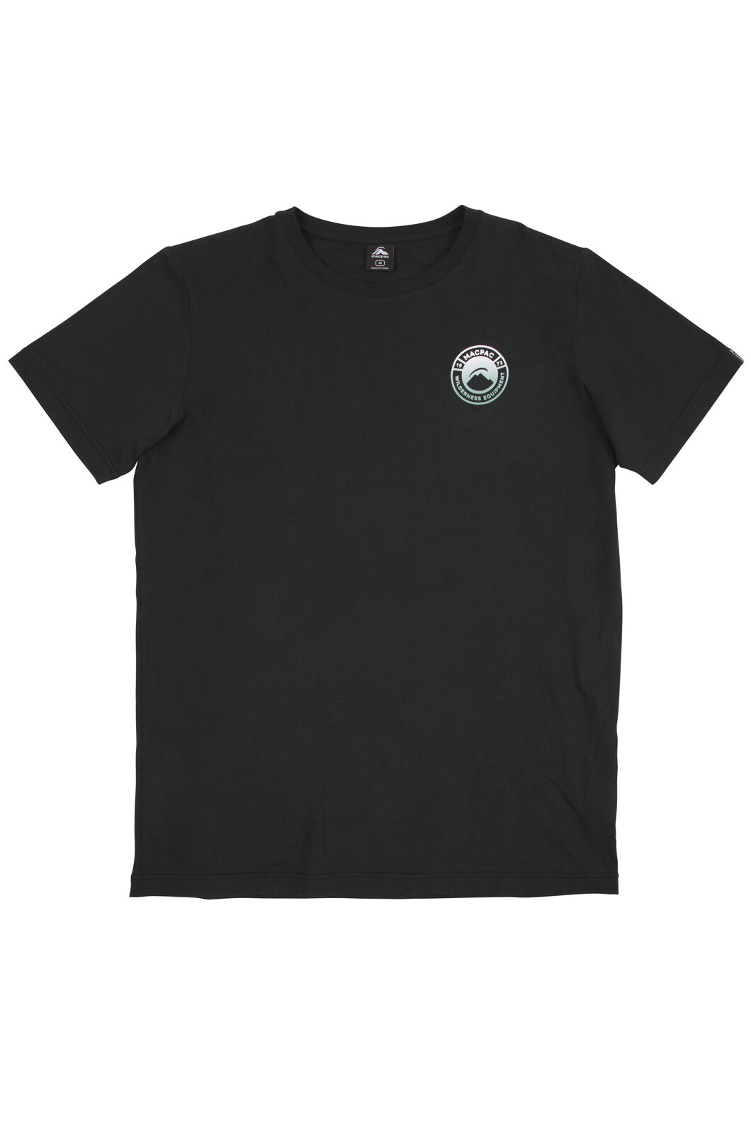 Macpac Gradient Organic Cotton Tee - Men's, Black, hi-res