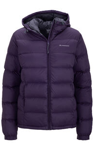Women's Halo Hooded Down Jacket, Nightshade, hi-res