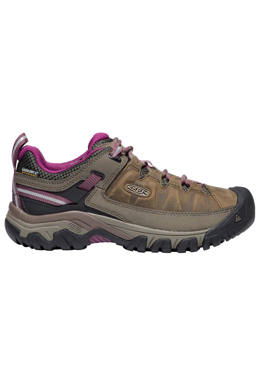 KEEN Women's Targhee III WP Hiking Shoes, Weiss/Boysenberry, hi-res